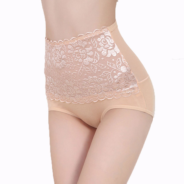 Sexy Lace Flower Panties High Waist Body Shaper