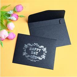 Новый мм Мини Размер 75x100 мм черный штамповки конверты/вечерние партия пользу подарок конверт шт./лот оптовая продажа