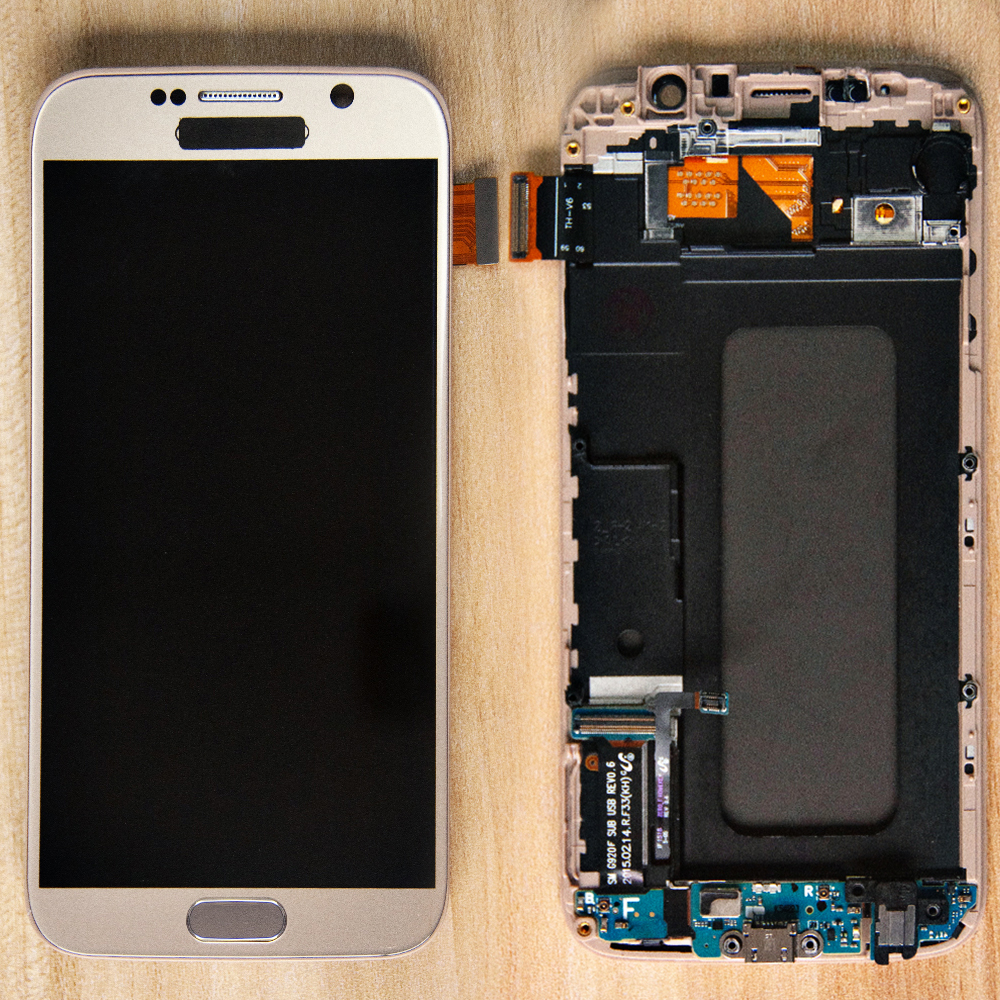Sinbeda TFT For Samsung Galaxy S6 LCD Display G920F G920A G920T Touch Screen Digitizer Assembly Frame +Home Button + Flex CableSinbeda TFT For Samsung Galaxy S6 LCD Display G920F G920A G920T Touch Screen Digitizer Assembly Frame +Home Button + Flex Cable
