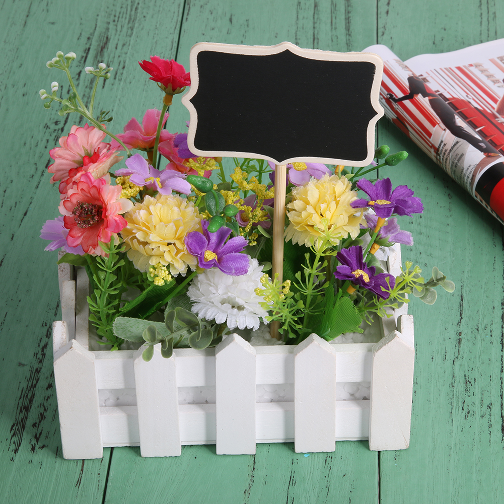20pcs Mini Chalkboard Blackboard On Stick Stand Holder Wedding Place Card Wedding Place Card Raw Wood Chalkboard Party Supplies