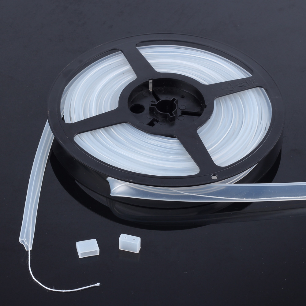 5m/10m Length 10mm/12mm Silicon Tube IP67 For SMD 5050 3528 3014 5630 Ws2801 Ws2811 Ws2812b Waterproof Led Strip Light