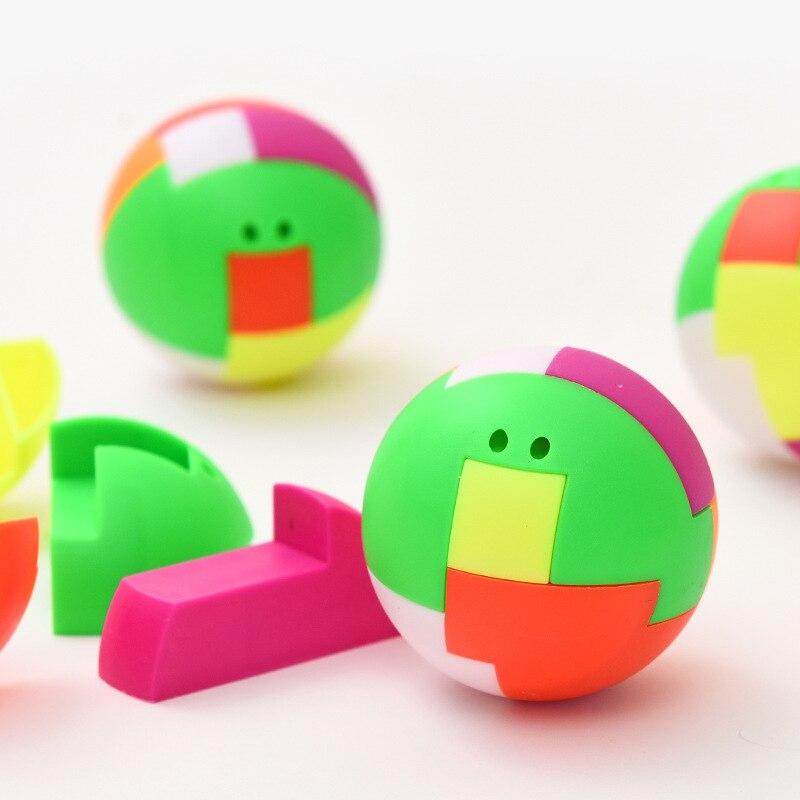 2019 New Puzzle Assembling Ball Education Toys Children Gift Creative Plastic Mini Multi-color Ball Puzzle Toy Pendant