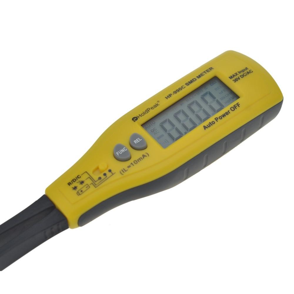 Holdpeak HP-990C SMD Digital Insulation tester Multimeter Auto Power off Resistance Capacitance Power Battery Insulation Tester  (9)
