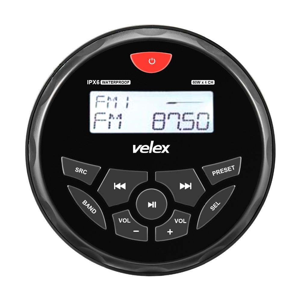 Водонепроницаемый морской цифровой медиаприемник с Bluetooth, WMA/MP3 плеер AM FM и USB для потоковой передачи музыки, 50 Вт X 4 канала