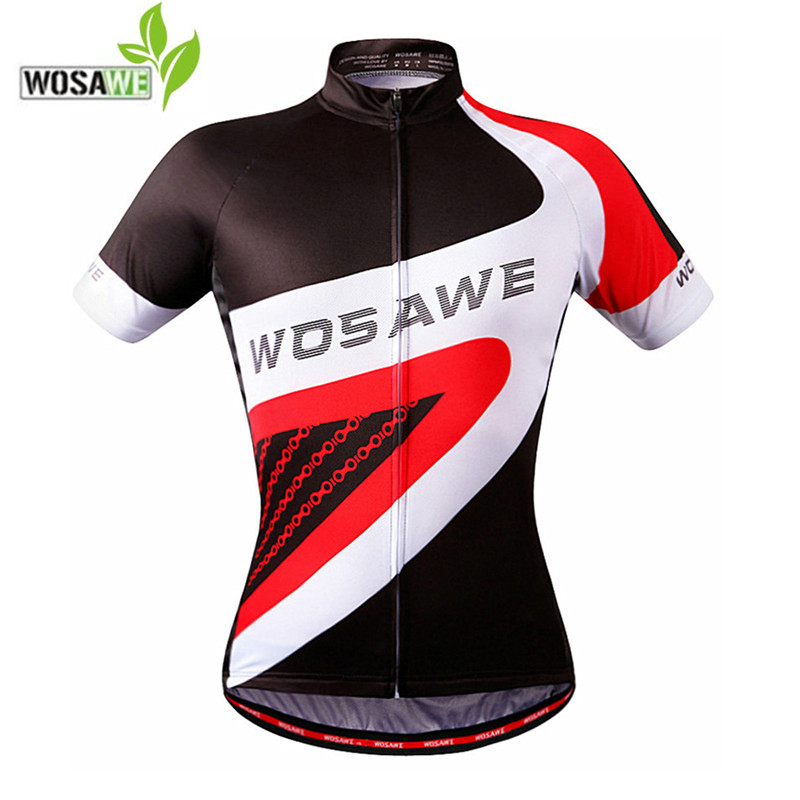 WOSAWE Summer Mens Cycling Jersey 2018 Short Sleeve ropa ciclismo Bicycle Clothes Mtb Mountian Bike Shirts Top cycling clothing