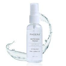 47e733fed 50 ml cara mate hidratante maquillaje cosméticos Spray acabado ajuste aceite -control de larga duración maquillaje fijación base .