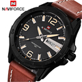 2016 Luxury Brand Naviforce Men Watch Leather Strap Analog Men's Quartz Date Clock Casual Sport Watches Man Military Wrist Watch