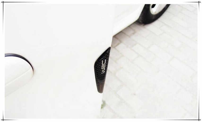 Nuevo coche-estilo de puerta Anti-Rub parachoques tiras de fibra de carbono pegatina para Hyundai tucson 2017 audi a4 b7 volkswagen polo volkswagen mitsubishi