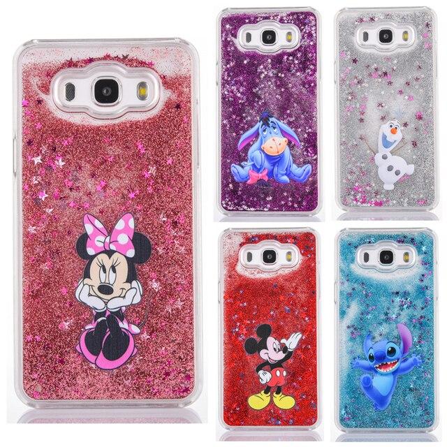 timeless design 8f287 44d99 US $4.09 |Diamond Cute Cartoon phone case for Samsung Galaxy J5 2016 J7  2016 J510 J710 Minnie eeyore Stitch Mermaid Liquid Quicksand Cover-in ...