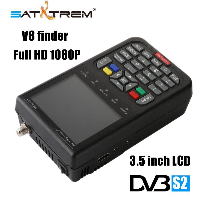 Satxtrem V8 Finder DVB S2 S Digital Satellite TV Receiver Black Full HD 1080P SATV 3