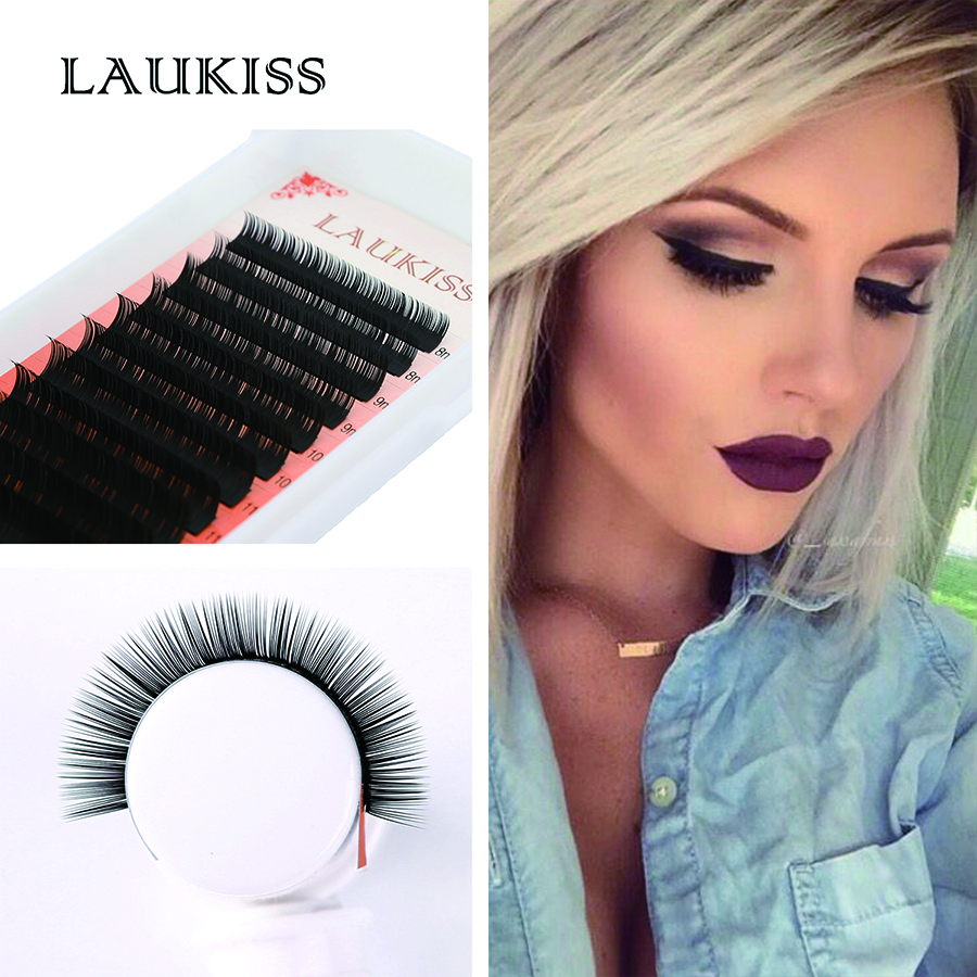 12 Rows Eyelash Extension Kit Faux Mink Professional Quality Eye Lash Extensions Material False Eye Lash for Eye Lash Extension