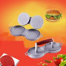 DIY Cakes Patty Maker Aluminum Nonstick Double Burger Press Hamburger Crab Home Kitchen Accessories