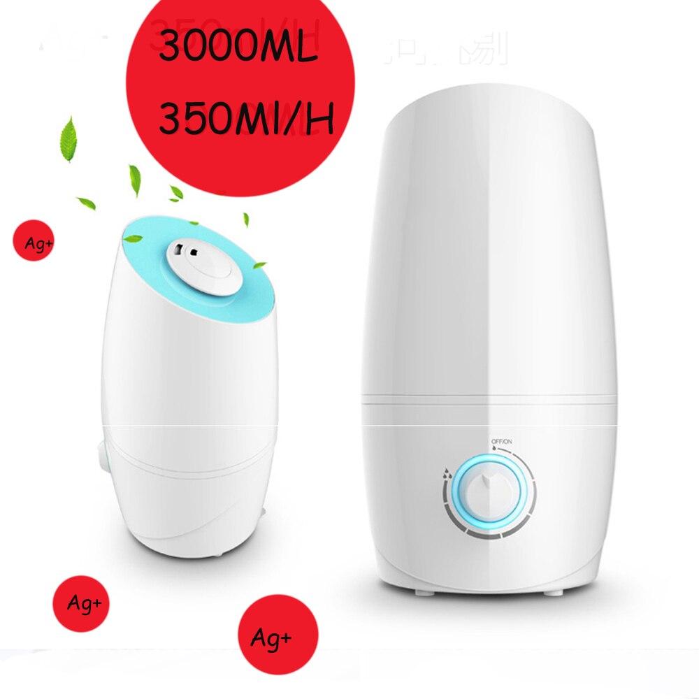 3L 350ML/H Difusor De Aroma Ultrasonic Air Humidifier Aroma Oil Diffuser Ionizer Generator Aromatherapy Mist Maker 220V l air de rien