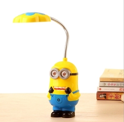 Beau New Baby Boys Girls Despicable Me Flexible Table Lamp/Kids Cute Minions  Folding Mini Lamps