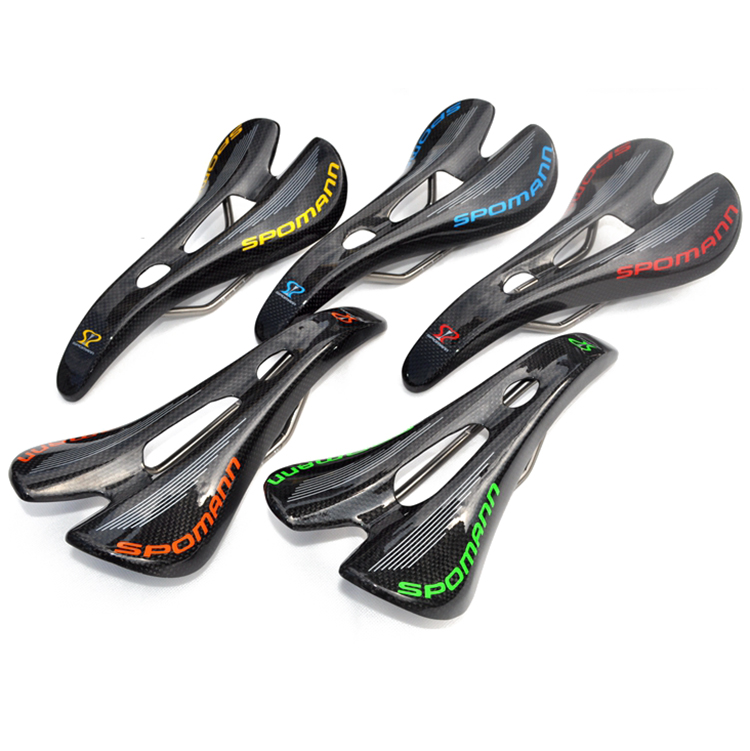 2016 New Carbon Fiber MTB Bike Saddle Road Mountain Bicycle Hollow Carbon+titanium Arch Rail Cushion Sillin Bicicleta parts full carbon fiber mountain bike spider saddle cushion bicycle accessories road cycling parts ud finish sillin carbono mtb