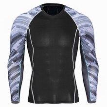 Спортивная быстросохнущая одежда мужская футболка для бега эластичная тренировочная компрессионная одежда