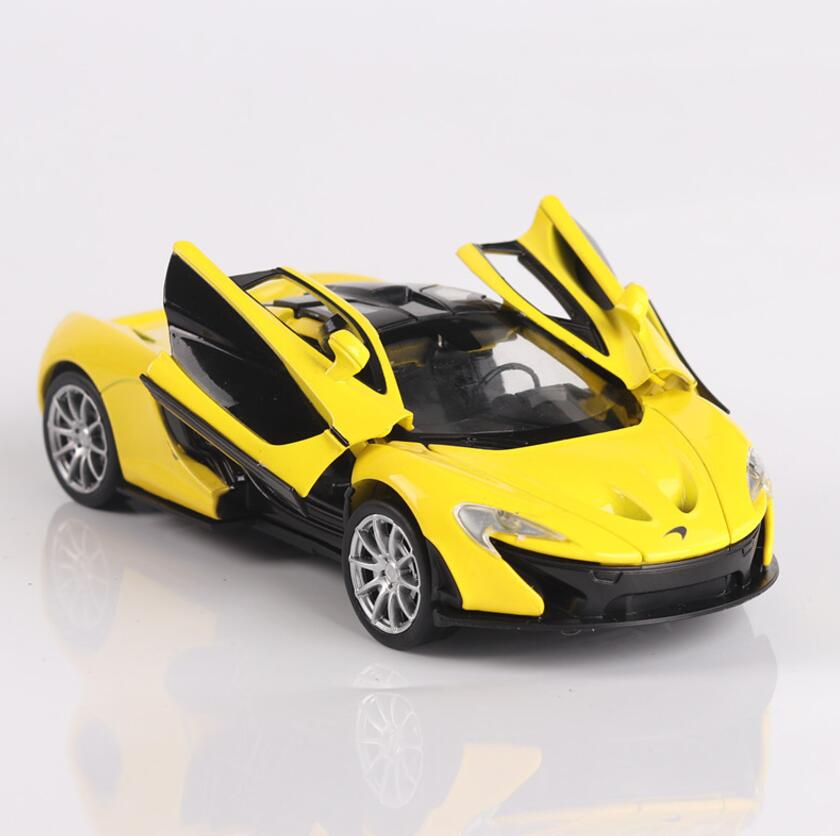 1/32 Diecasts & Toy Vehicles McLaren P1 Car Model With Sound&Light Collection Car Toys For Boy Children Gift Brinquedos