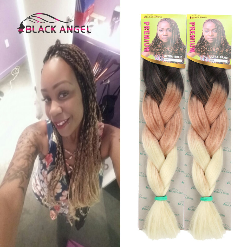 Free Shipping 1 10packs Three Tone Black Brown Blonde Ombre