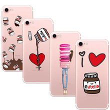 Tumblr Nutella chocolate Food Case For iPhone 7 7Plus 6 6S 6Plus 5S SE Soft TPU Clear with design Phone Back Cover Fundas Coque