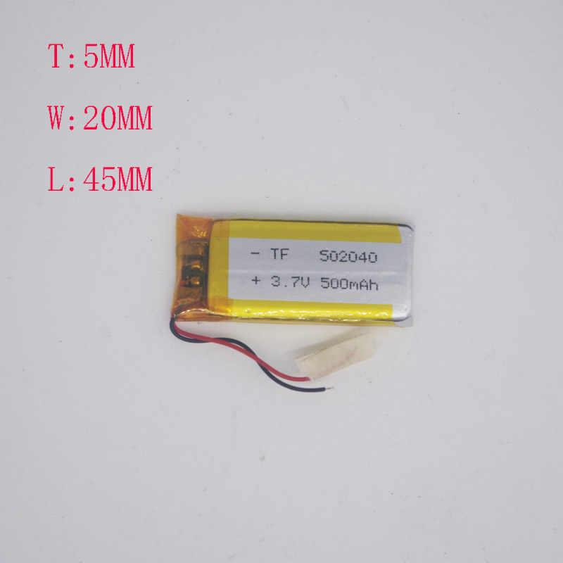 3 7 V полимерная литиевая батарея 502040/502045 CarLog точка чтения ручка 500