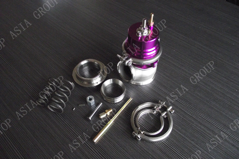 ФОТО 60MM Wastegate - Stainless Steel V BAND 1jzgte / SR20DET / JDM  Purple