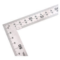 Stainless Steel  Angle Square Broadside Knife Shaped 90 Degree Angle Blade Ruler Gauge Blade Measuring Tool 150 x 300mm|angle square|ruler 90 degree|angle square tool -