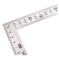 Stainless Steel Angle Square Broadside Knife-Shaped 90 Degree Angle Blade Ruler Gauge Blade Measuring Tool 150 x 300mm