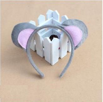 Дети взрослые Косплей Животное ухо оголовье пчела Шрек Медведь Корова Зебра мышь Обезьяна и лягушка Тигр Леопард лягушка день рождения - Цвет: mouse