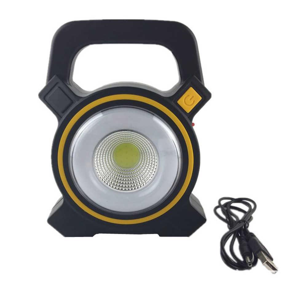 Солнечная приведенная в действие Портативный Перезаряжаемые COB Светодиодный прожектор уличные садовые фонари лампы для рыбалка кемпинг Палатка аксессуары