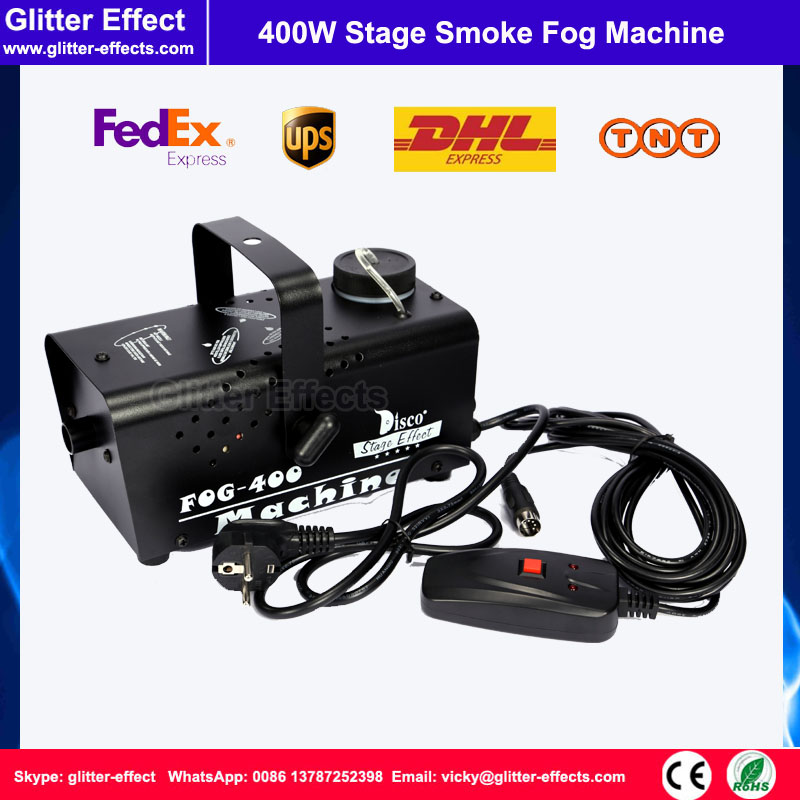 400w DJ stage special effect smoke machine small mini wire control fog jet stage party show professional lighting smoke machine