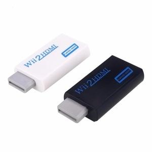 Image 1 - 500 قطعة كامل HD 720P 1080P Wii2HDMI محول ل وي إلى ل HDMI محول 3.5 مللي متر الصوت والفيديو الناتج ل HDTV رصد Displayer