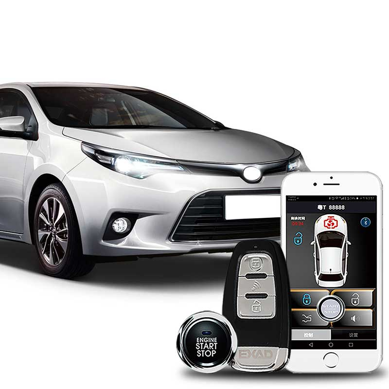 For Vios 2017 APP Remote Start Keyless Entry Central Locking System Comfort PKE Phone Car Engine Car Alarm With Remote Control