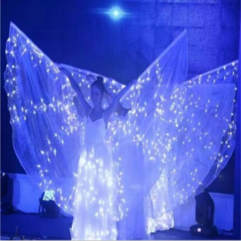 Nejnovější LED Luminous Party šaty Křídla LED Light Up rostoucí Pódium výkon Ballroom kostým