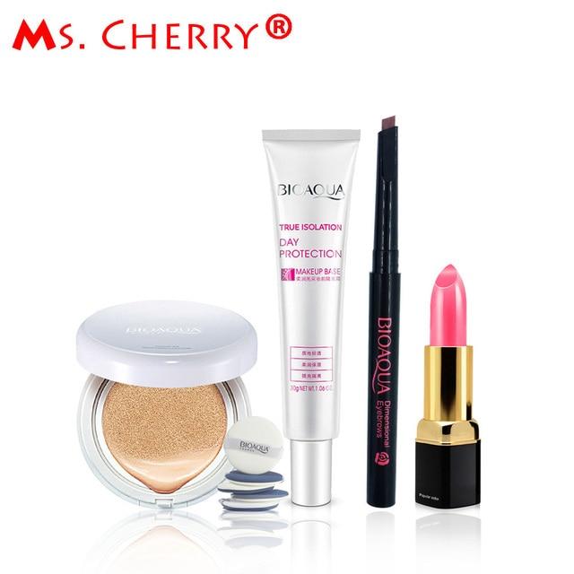 Сладкий Знакомства макияж Набор BB Крем на Воздушной Подушке Крем Карандаш Для Бровей Комплекты Помады для Lady Pink Lady MA002