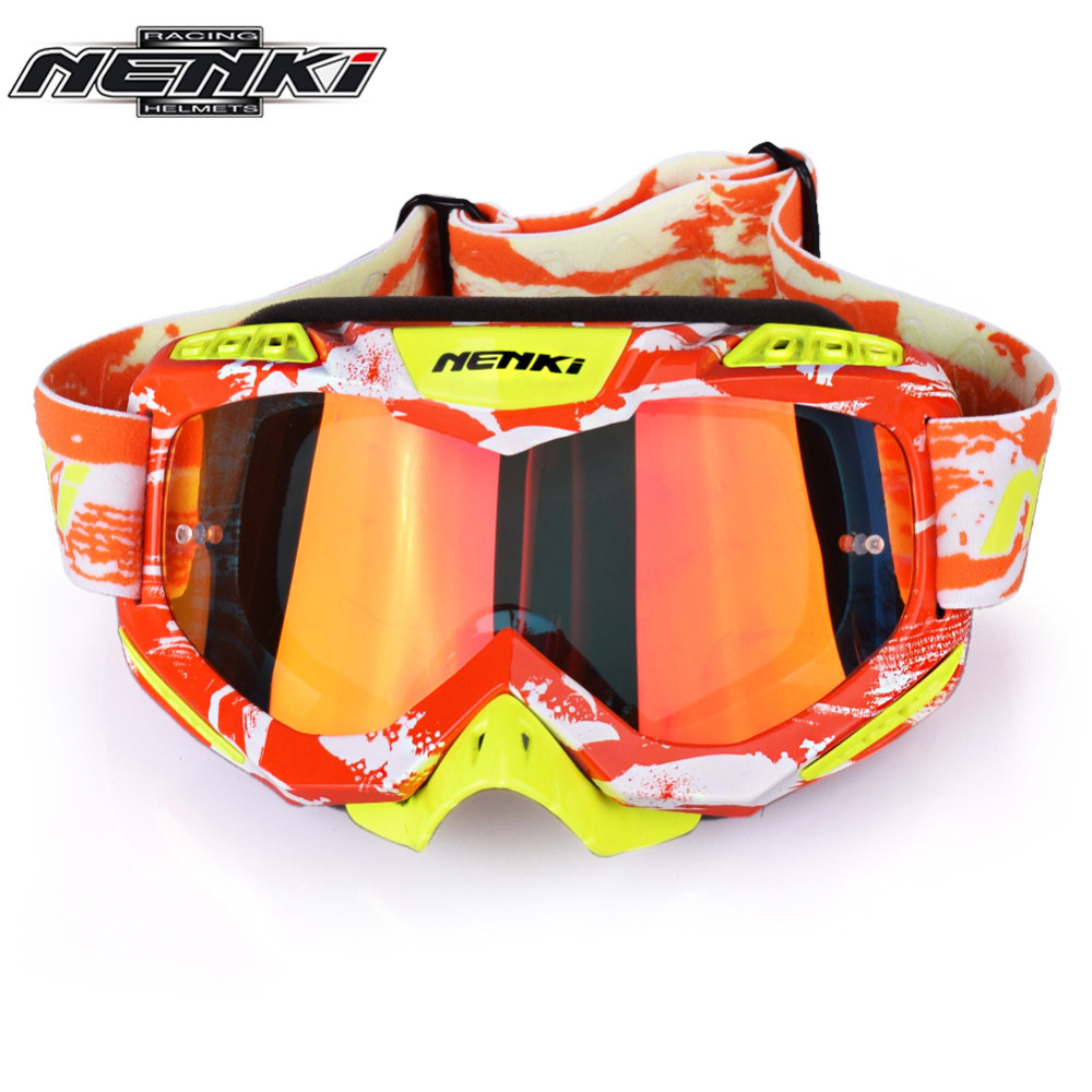 NENKI Motocross Goggles Cross Country Skis Snowboard ATV Mask Oculos Gafas Motocross Motorcycle Helmet 1016OG MX