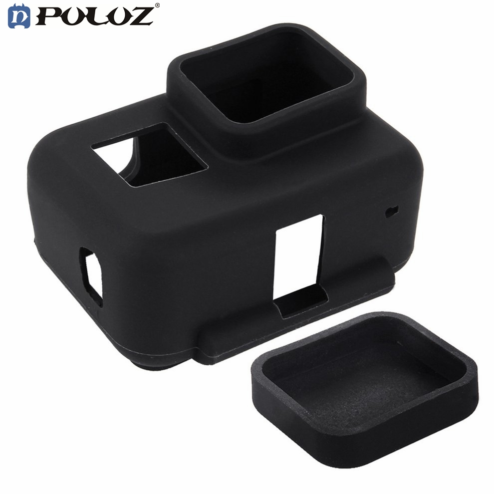 PULUZ PU190 Silicone Housing Cover Soft Protective Case With Side Frame Lens For GoPro H ...