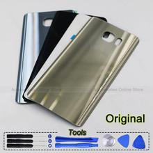 100% Original Note5 Back Glass housing Battery Cover Glass Door Case For Samsung Galaxy Note 5 N920 N920F with Logo