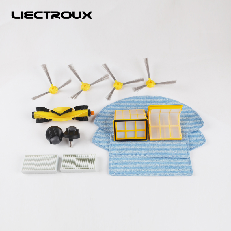 (B6009)for LIECTROUX Robot Vacuum Cleaner B6009 Rubber Brush,Side Brush,HEPA ,Primary filter,Front wheel