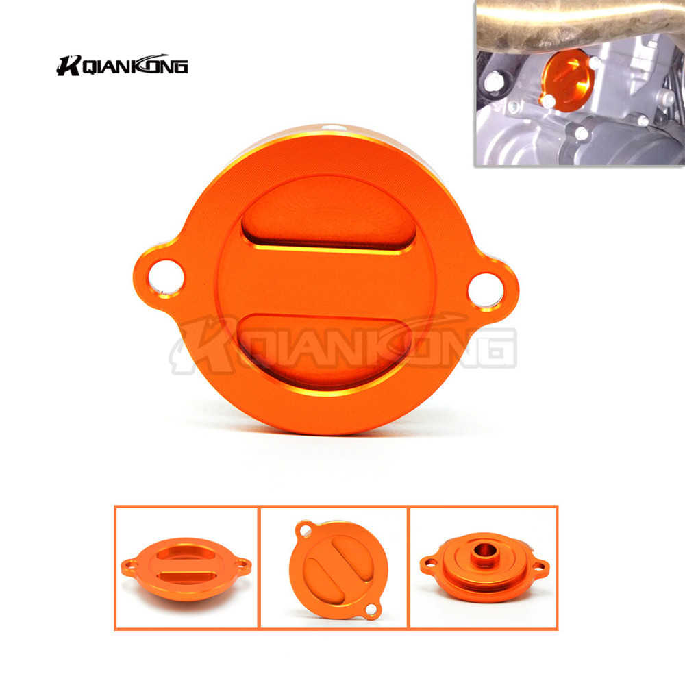 Orange CNC Aluminum Refit Motorcycle Engine Oil Filter Cover Cap for bmw KTM Duke 125 Duke 200 Duke 390 Duke 690 RC 125 200 390
