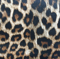 Leatheroid Synthetic Imitatie Leopard Printed PVC Leather Material