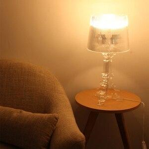 Image 3 - Lampe de chevet en acrylique transparente, 20 pouces, à haut Accent, éclairage LED, Table de chevet, pour chambre à coucher, salon, prise US et ue E27