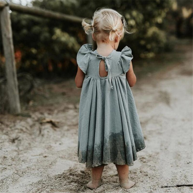 2019 Toddler Children Clothing Summer Dress Baby Girls Cotoon Linen Dresses Kids Short Sleeve Ruffle Long Dresses Beautiful Girl2019 Toddler Children Clothing Summer Dress Baby Girls Cotoon Linen Dresses Kids Short Sleeve Ruffle Long Dresses Beautiful Girl
