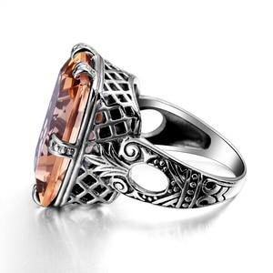 Image 3 - Szjinao 925 Sterling Zilveren Ring Amber Vierkante Voor Vrouwen Bridal Wedding Edelsteen Ringen Enagement Party Fijne Sieraden Hoge Kwaliteit