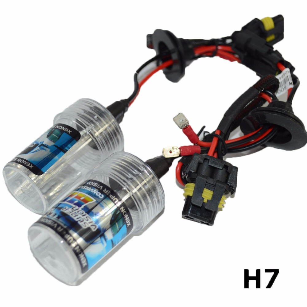Safego AC 35W xenon H7 xenon hid Headlight bulbs replacement 8000K 6000K Auto Car HID xenon Light headlamp 4300K 3000K