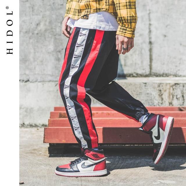 Twill Vintage Side Stripe Splice Pants Old School Style Joggers