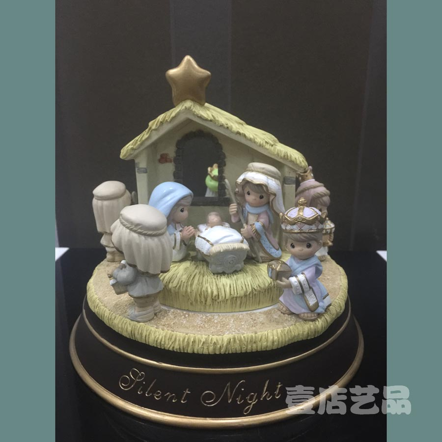 Religious Christmas Music.Us 150 3 10 Off Warm Holy Father S Family Music Ornament Xmas Decoration Beauty Silent Night Religious Christmas Gift For Children In Statues