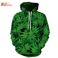 Alisister Weed Leaf Hoodie Women/men Printed Hoodies Fashion Outerwear Basicswear 3d Sweatshirt Mens Harajuku Hoody