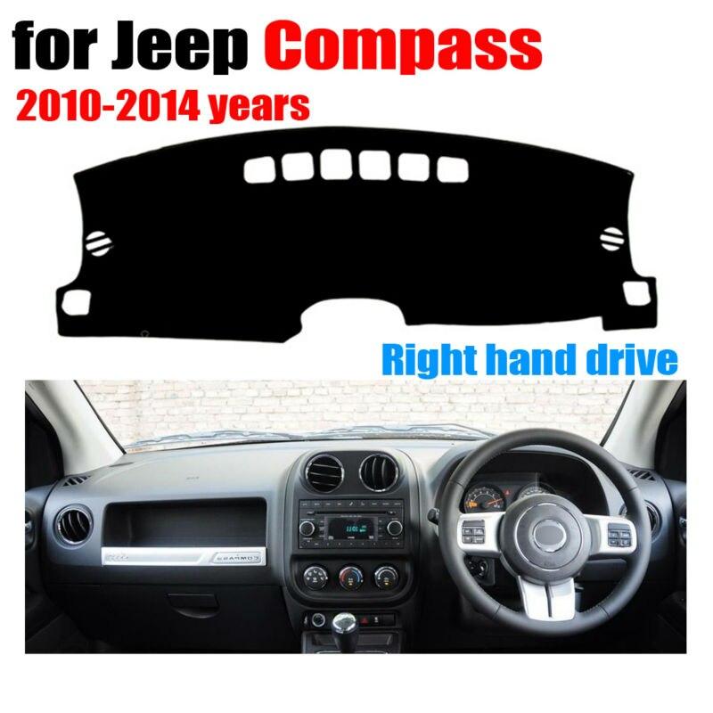 Tableau de bord de voiture couvre tapis pour Jeep Compass 2010-2014 ans conduite à Droite dashmat pad dash couverture auto tableau de bord accessoires