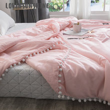 LOVINSUNSHINE Soft Throw Blanket With Small Ball Decor Washed Soft Warm Cover Air Condition Quilt For Bed AB#138