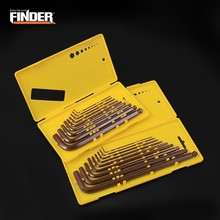FINDER Universal 9pcs S2 Hex Wrench Allen Key Socket Hexagonal Wrenches Set With Box Spanner Repair Hand Tool Set Garage Tools 4 5 6 8 10 12 mm chrome vanadium ratchet allen key wrench set ratcheting spanner kit hand tools for car repair hex key wrenches
